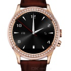 NO.1 D2 MTK2502 Diamond BT V4.0 Smart Watch w/ Heart Rate, Pedometer + More - Brown + Rosy Gold