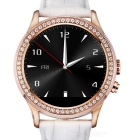 NO.1 D2 MTK2502 Diamond Bluetooth V4.0 Smart Watch w/ Heart Rate, Pedometer+More - White + Rosy Gold