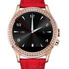 NO.1 D2 MTK2502 Diamond Bluetooth V4.0 Smart Watch w/ Heart Rate, Pedometer + More - Red + Rosy Gold