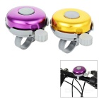 Bike Bicycle Aluminum + ABS Safety Warning Bells - Golden + Purple (2pcs)