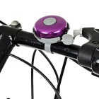 Bicycle Aluminum + ABS Safety Warning Bells - Golden + Purple (2PCS)