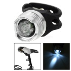 8lm 2-Mode White Light 1-LED Bicycle Bike Light / Helmet Lamp Headlamp - Silver White + Black