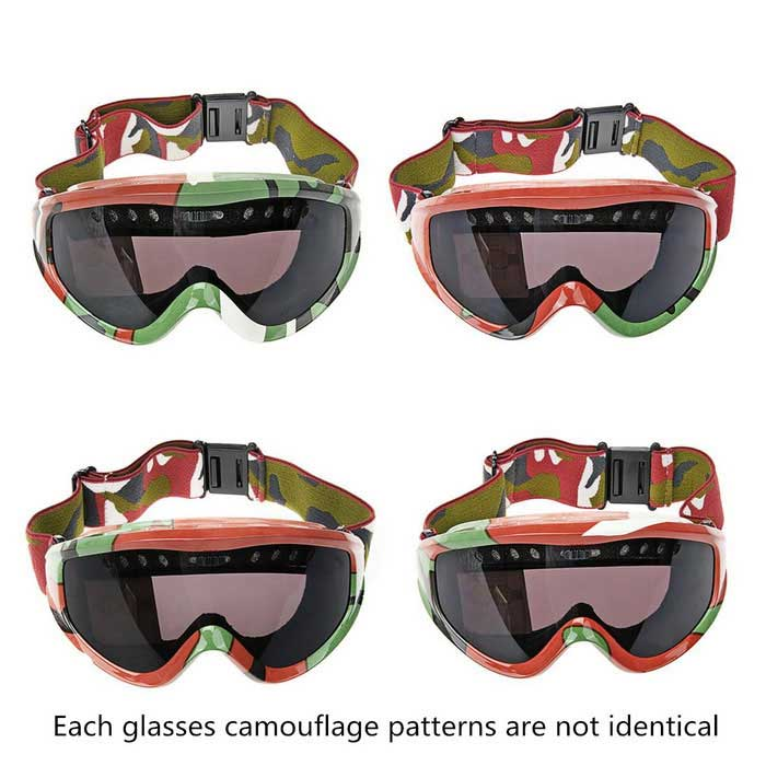 Fashion PC Resin Oogbescherming Skiën Goggles - Camouflage