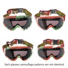 Fashion PC Resin Eye Protection Skiing Glasses Goggles - Camouflage