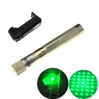 303 5mW Green Light Laser Pointer Flashlight + US Plug Charger - Gold