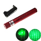 303 5mW Green Light Laser Pointer Flashlight + US Plug Charger - Red