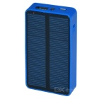 Solar Powered USB 2200mAh External Battery Power Bank w/ LED Flashlight for IPHONE 6 + More - Blue