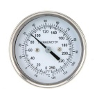 Oven Thermometer Temperature Gauge Food Meat Dial - Silver + Black