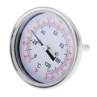 Oven Thermometer Temperature Gauge Food Meat Dial - Silver + Red