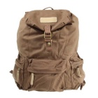 Caden F5 Retro Waterproof Canvas Camera Backpack Travel Rucksack for Canon Nikon Pentax DSLR -Coffee