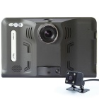 "7"" HD 1080P Android GPS Navigator & Car DVR w/ Radar Detector, Reverse Camera, AV-IN, RU Map, 16GB"