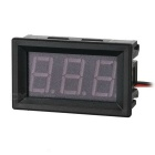 "DIY 1.6"" DC 5~30V Yellow Light 2-Wire 3-Digit Digital Voltmeter Voltage Display Module - Black"