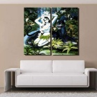 Bizhen Frame-free Chinese Classical Style Beauty Painting Canvas Wall Decor Murals 2 Panels