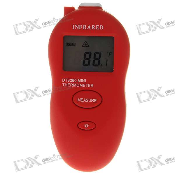 "Mini 1.3"" LCD Digital InfraRed Thermometer with LED White Light (-50'~260'C/2*AAA)"