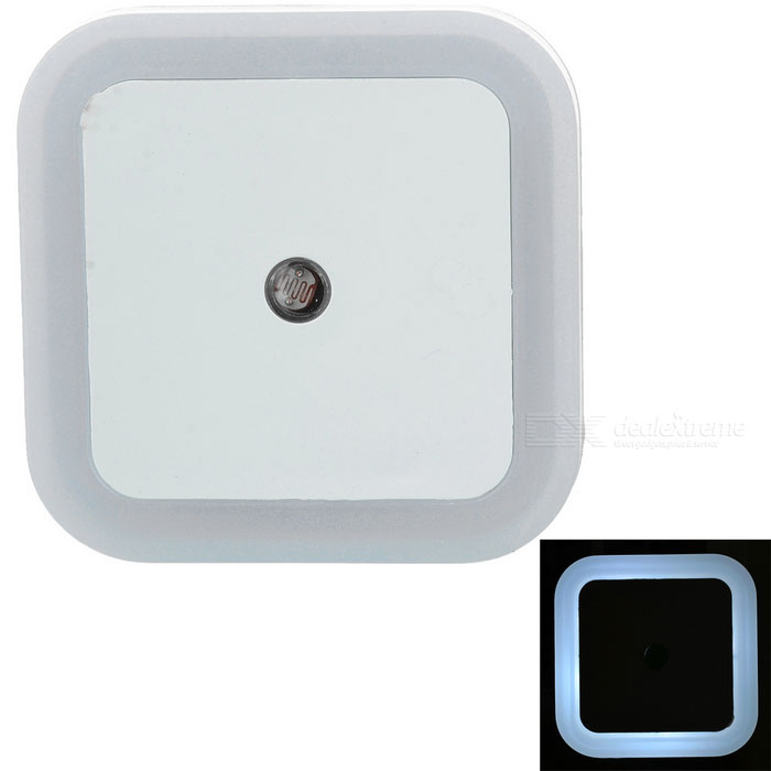0.5W cuadrados de control de luz 4-LED nightlight blanco 6000K (ac 220V)