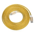 USB 3.1 Type C Braided Data Sync & Charging Cable - Golden Yellow (2m)