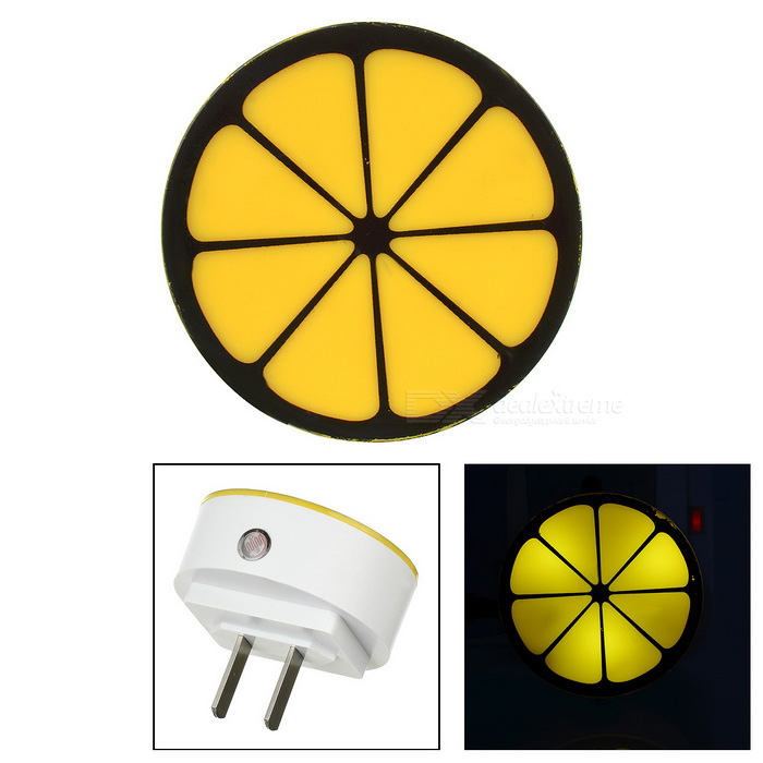 Lemon Style 0.5W Light Control Nightlight White 6000K - Yellow (220V)LED Nightlights<br>MaterialPVC + LED + electronic componentsForm  ColorWhite + Yellow + Multi-ColoredQuantity1 DX.PCM.Model.AttributeModel.UnitPowerOthers,0.5WRated VoltageOthers,50Hz AC 220 DX.PCM.Model.AttributeModel.UnitConnector TypeOthers,N/AColor BINWhiteEmitter TypeLEDColor Temperature6000KDimmableNoInstallation TypeInsertedOther FeaturesCurrent: AC 0.02APacking List1 x Light<br>