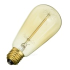 E27 ST64 40W Decorative Straight Filament Light Warm White 3500K 500lm