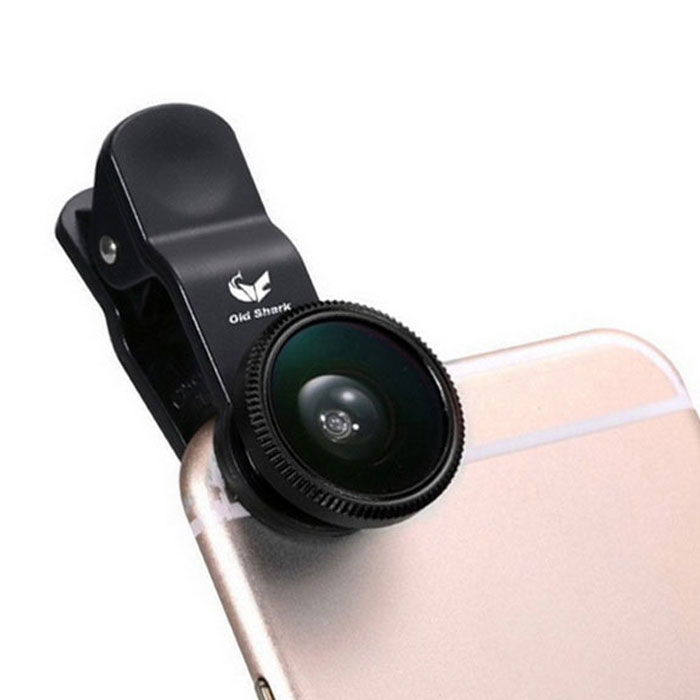 Oldshark Universal 3-in-1 Clip-on 180' Fish Eye + Wide-Angle + Macro Lens Kit for IPHONE & More(SKU 414768)