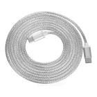 USB 3.1 Type C Male to Male Braided Data Sync & Charging Cable - Silver White (2m)