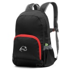 Wind Tour WT051017 Outdoor Hiking Climbing Portable Folding Shoulders Bag Backpack - Black (25L)