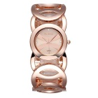 Weiqin Fashion Waterproof Hollow Out Alloy Band Quartz Watch for Women - Rosy Gold