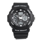 SYNOKE 66866 Unisex Fashion Multifunction Waterproof Sports Analog-Digital Watch - Black