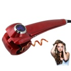 LCD Pro Hair Curler Styler Heating Hair Styling Tools / Automatic Hair Curl Magic Hair Curlers - Red