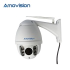 Amovision Q9540R-WiFi 2.0MP 1080p 4X Zoom Security IP Camera w/ IR Night Vision - White (US Plug)