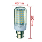 B22 18W LED Corn Bulb Lamp Cold White Light 6000K 1650lm 126-SMD 2835