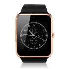 "1.54"" GT08 Touch Screen Bluetooth Smart Wrist Watch Phone for Android IOS - Black + Gold"