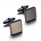 Square Smooth Men Cufflinks - Dark Brown (Pair)