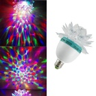 E27 3W 3-LED RGB Mini Sound Control Lotus Shape Crystal Party Light Stage Lamp
