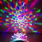 E27 3W 3-LED RGB Sound Control Lotus Shape Crystal Party / Stage Lamp