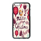 Merry Christmas Patterned Protective TPU Back Case Cover for IPHONE 6 / 6S - Beige + Red