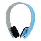 BQ-618 Multifunctional Bluetooth V4.0 Headband Stereo Headset w/ Mic - Blue + Grey