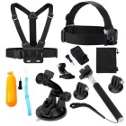 12-in-1 Sports Camera Accessories Kit for GoPro Hero 4Session/4 / 3 / 3+ / SJ4000 / SJCam / Xiaoyi