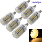 YouOKLight E14 6W LED Kornlampa Lamp Warm White Light 96-SMD (6 PCS)