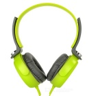KEEKA 3.5mm Plug Wired Headband Headphone Headset w/ Mic - Green + Deep Grey