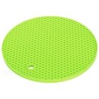 Round Honeycomb Design Heat Insulation Table Mat Pad Placemat - Green