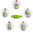 Wind Tour Sports Water Resistant Waist Bag w/ Adjustable Strap - Green