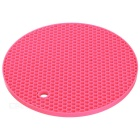 Round Anti-slip Insulation Mat - Deep Pink