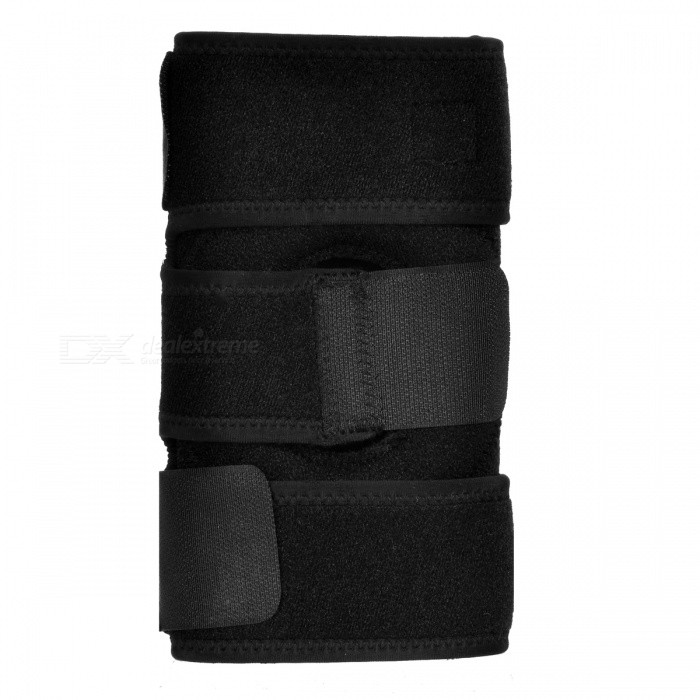 MLD Outdoor Sports Adjustable Spring Knee Guard Protector - Black