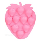 Strawberry Style 10-Cup Cake Ice Tray Mould - Pink