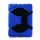 Anti-Drop Dustproof Shock-proof Ultra Protective Silicone Back Case Cover for IPAD 2/3/4 - Deep Blue