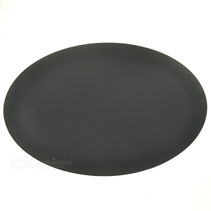 Round Anti-Slip Rubber Mouse Pad Mat - Black