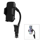 USB Output Car Charger & Universal Cellphone Mount Holder for Samsung, HTC + More - Black