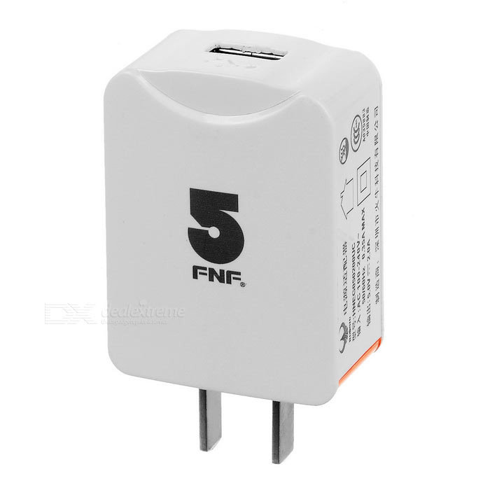 FNF 5V 2A US Plugss Power Adapter for Tablet PC / Cellphone - White