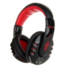 VYKON Professional Wireless Bluetooth 2.1+EDR Music / Gaming Headset w/ Microphone - Black + Red