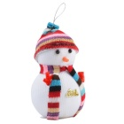 Snowman Decoration Ornament for Christmas Tree - White + Multi-color